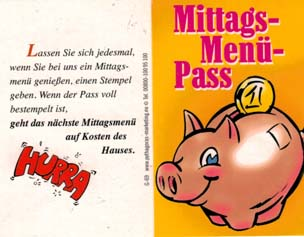 Mittags Menue Pass